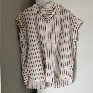 Madewell Short-Sleeve Striped Button-Down, Medium